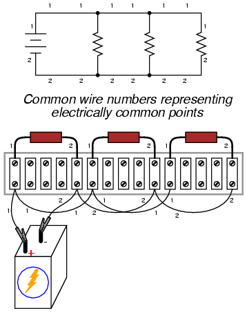 4 Wire Terminal Block besides Electronics  ponents And Why They Do besides Wiring Connection Icon likewise How To Use A Breadboard likewise High Voltage Ohmmeters. on connect wire schematic symbols