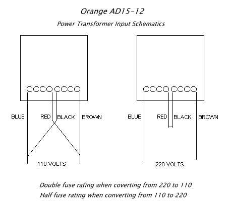 prowess amplifiers orange schematics ad15 transformer wiring 220v to 110v transformer wiring diagram ad15 · jpeg schematic description transformer wiring