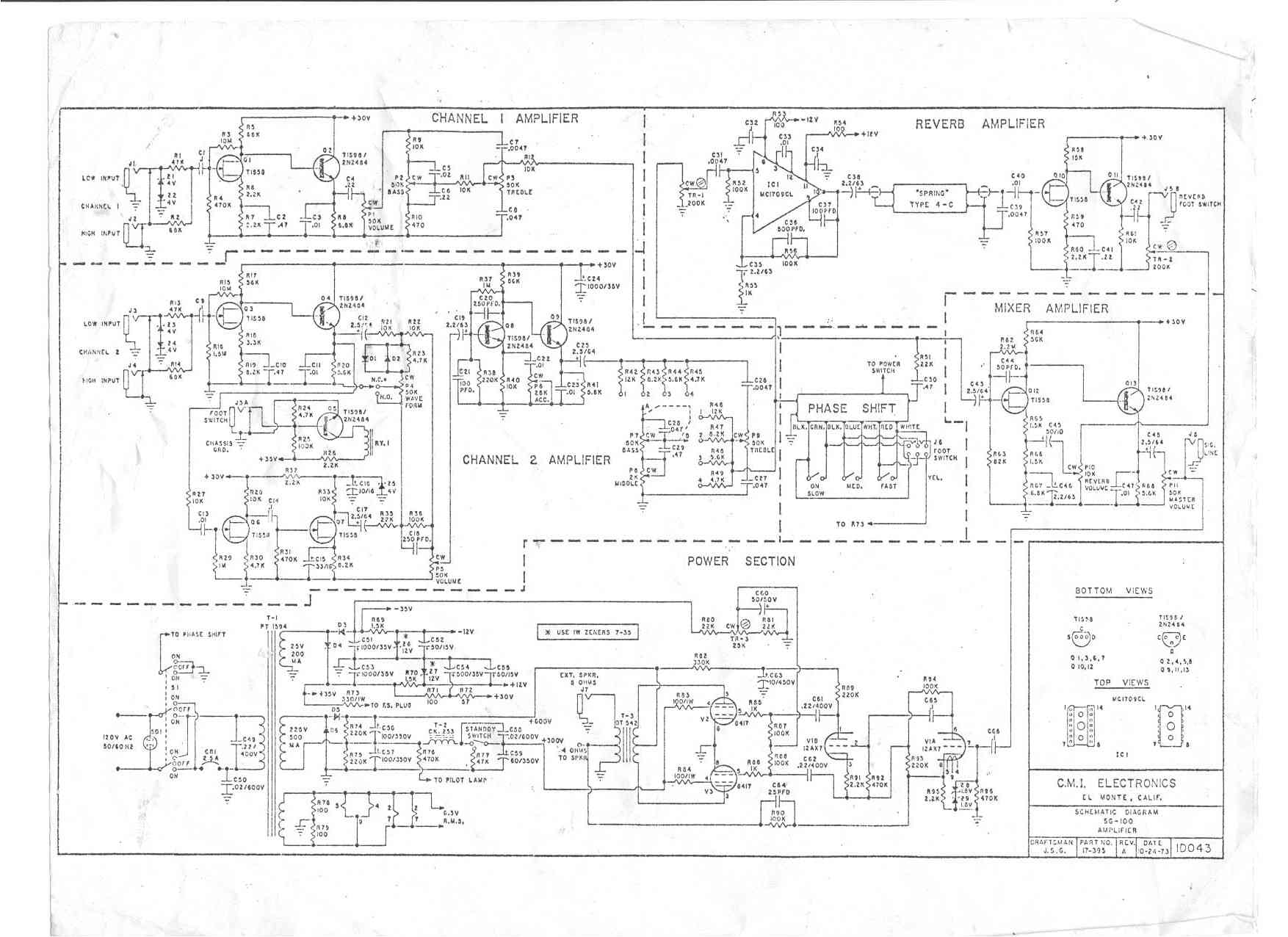 Wiring Diagram Crate Guitar Amplifier Page 5 And Fender Amp Baldwin Schematics Wire Center U2022 Rh Masinisa Co Easy Schematic