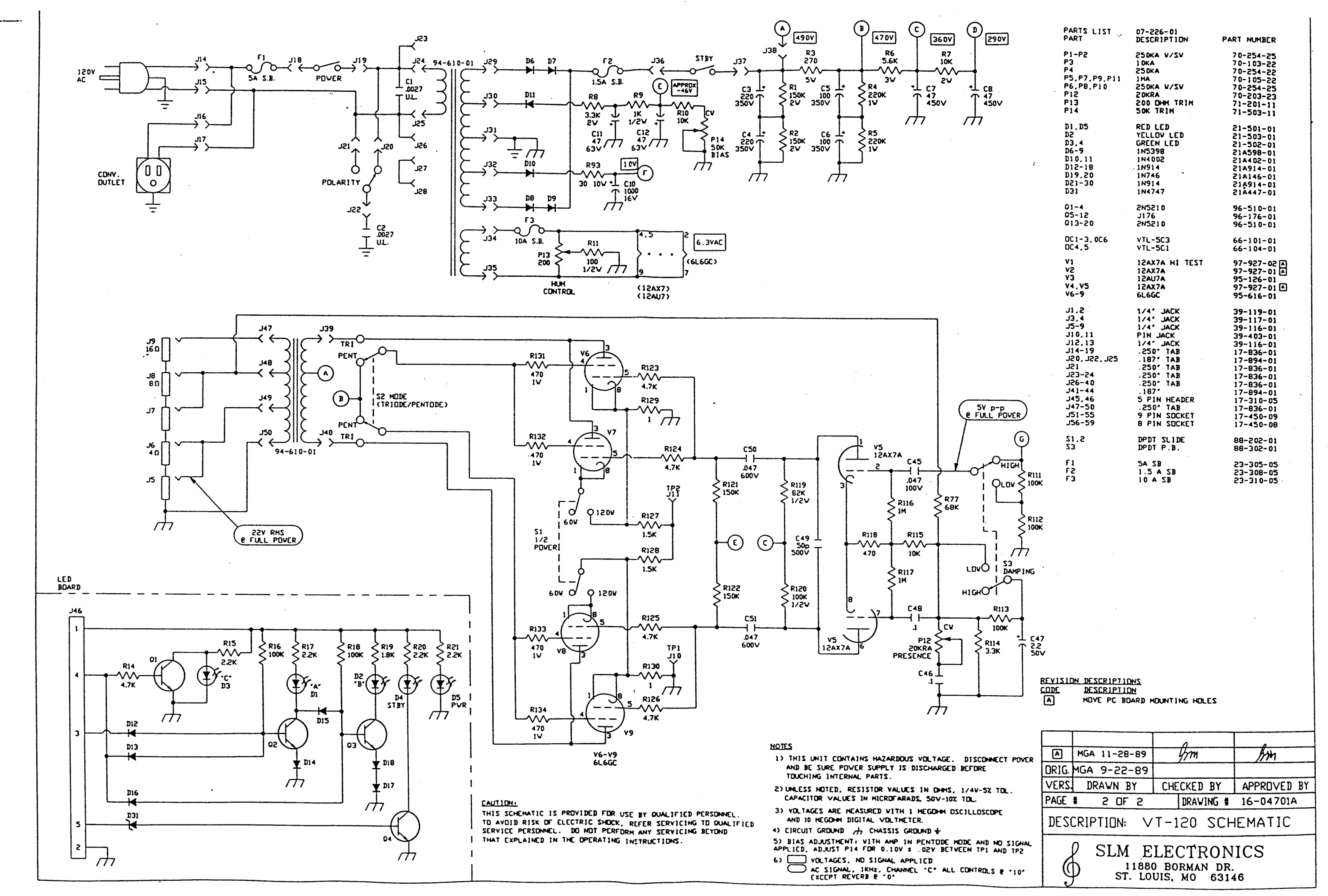 Prowess Amplifiers Ampeg Schematics Vt 120 Power Side Supply Amp Schematic And Jpeg